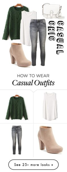 """Casual chic"" by a-groe on Polyvore featuring WithChic, Gap, Current/Elliott, LC Lauren Conrad and MICHAEL Michael Kors"