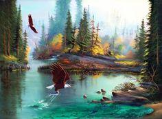 Fishing Bald Eagles - Birds Wallpaper ID 1549626 - Desktop Nexus Animals