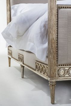 Shop beds at Chairish, the design lover's marketplace for the best vintage and used furniture, decor and art. 4 Post Bed, Paris Apartments, French Decor, California King, Decoration, Home Goods, Upholstery, Sweet Home, Bedrooms