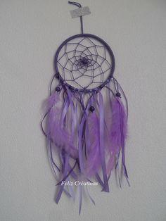 Attrape rêves petit modèle violet : Décorations murales par feliz