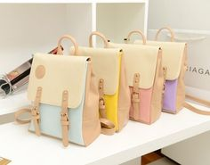 2013 Korean Style Candy Color Vintage Bags Backpacks For Teenage Girls Handbag Travel bags