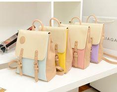 2013 Korean Style Candy Color Vintage Bags Backpacks For Teenage Girls Handbag Travel bags