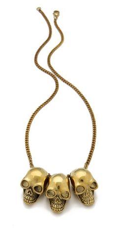Monserat De Lucca- 3 Skull Necklace