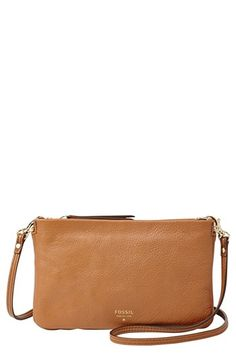$88, Mini Crossbody Bag Camel by Fossil. Sold by Nordstrom. Click for more info: http://lookastic.com/women/shop_items/60027/redirect