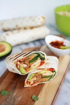 Grilled Tex-Mex Chicken and Quinoa Wraps