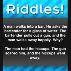 Riddles- from Sharon Stitt Streeters boards.....