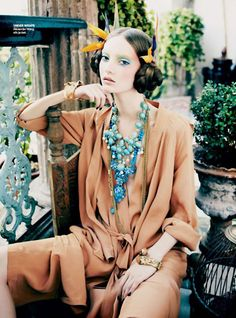 Codie Young by Nicole Bentley in 'Orient Excess' for Vogue Australia April 2011