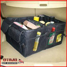 Quality Black Velour Carpet Car Truck Boot Tidy Storage Organiser Holder Bag