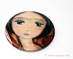 Always in Love  Pocket Mirror Original Art by Flor by FlorLarios, $8.00