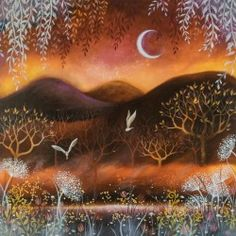 """Sunset"" by Amanda Clark, recently sold by The Alverton Art Gallery, Penzance, Cornwall UK"