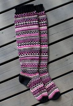 Striped over stockings Hand knit over the knee socks Thigh High Boots Heels, Thigh High Socks, Knee Socks, Heel Boots, Thigh Highs, Wool Socks, Knitting Socks, Hand Knitting, Knit Art