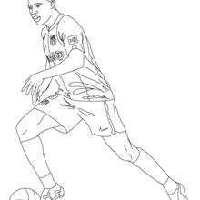 Soccer Player Coloring Page Soccer players