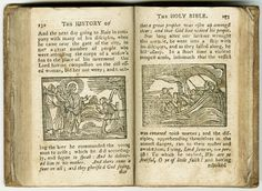 The Holy Bible abridged and illustrated in Worcester in 1796   This 1796 edition of The Holy Bible Abridged is similar in textual content to the 1792 New York edition printed by William Durrell, but includes a different set of illustrations. On display are woodcuts of Christ restoring the widow's son to life (Luke 7:11–18) and Christ stilling the tempest (Luke 8:41–56).     The Elizabeth Perkins Prothro Bible Collection