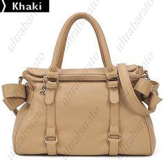 $55.79 - Western Style Bowknot Ornament Design PU Leather Shoulder Bag Messenger Bag Handbag for Women from UltraBarato Gadgets