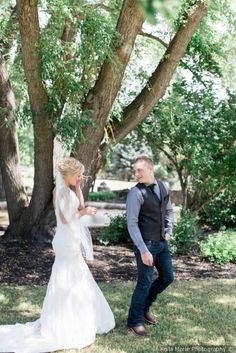 First look photo idea - cute first look photo {Keila Marie Photography}