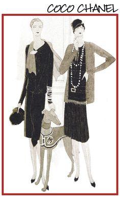 Coco Chanel, VOGUE 1927.