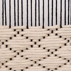The coolest black and white weaving!