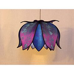 @Overstock.com - This lamp combines the strength of steel and the elegance of pure silk. Handmade by Vietnamese artisans, each silk lantern has the unique character one would expect from a fairly traded, non-factory made product.http://www.overstock.com/Worldstock-Fair-Trade/Hanging-Blooming-Jewel-Lotus-Lamp-Vietnam/5186575/product.html?CID=214117 $80.99