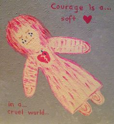 Inspiration for those who love unconditionally and also all victims of any type of abuse.true courage is having a soft heart in a cruel world :) Drawing Journal, Soft Heart, Zentangles, Sadness, Journals, Depression, Spiritual, Doodles, Paintings