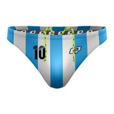 Argentina Waterpolo Brief. Show your pride for Argentina. #qswimwear #swimsuit