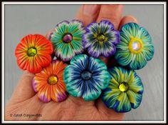 2 Good Claymates: Flower rings