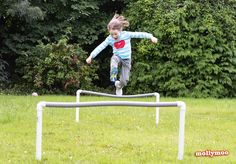 For a little distraction with a difference for the remainder of the summer holidays why not install a DIY obstacle course in your garden. DIY garden games.