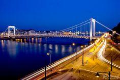 Elisabeth Bridge (Erzsébet-híd) #Budapest #Hungary #Europe #Danube