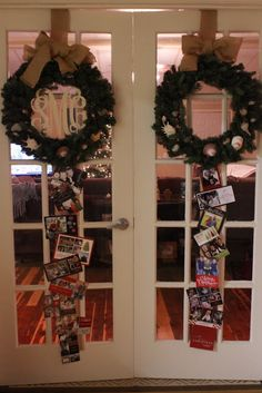 Great Idea To Display Christmas Cards