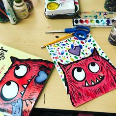 29 vind-ik-leuks, 3 reacties - DECS Art Room: Yvette Hall (@amazing_art_at_decs) op Instagram: 'I spent some time developing my love monster art lesson for my third graders today! I'm so happy…'