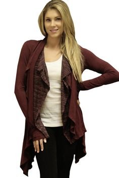 THE REASON FOR WHY THIS WAS MADE.    This lounge Cardigan wrap jacket is inspired as our yoga lifestyle.  Easy to wear after a yoga class or any workout. Trendy comfortable womens cardigan jacket to give you a  casual look but still in trend  www.yogiclothing.com  $60.00