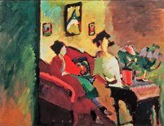 Wassily Kandinsky, Interior. Gabriele Munter and Marianne von Werefkin, 1910 on ArtStack #wassily-kandinsky-vasilii-vasil-ievich-kandinskii #art