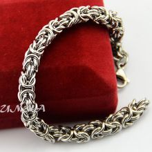 Chunky 7MM 316L Stainless Steel Link Byzantine Bracelets Chains For Men Women 7inch-11inch Jewelry(China (Mainland))