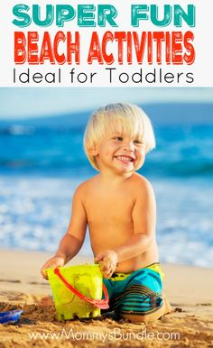 Such an awesome list of beach activities PERFECT for toddlers! Great ideas to keep kids busy on the beach and burning-energy so that they are ready to hit the sack after a sun-filled day!