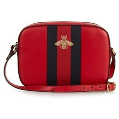 Gucci Line bee-embroidered leather cross-body bag