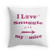 Snuggle with Mouse Throw Pillow Couple Look, Holiday Quote, Face Towel, Pillow Design, Cuddle, Mice, Hand Towels, Snuggles, Arrow