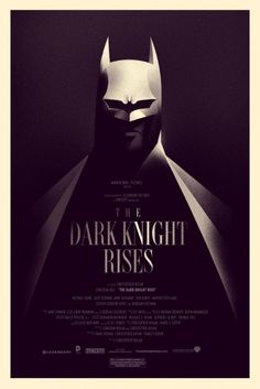 The Dark Knight Rises Poster by Olly Moss (Timed Edition).