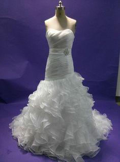 Sexy Sheath Organze Wedding Dress