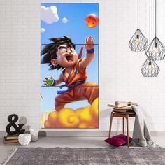 Dragon Ball Goku Kid Nimbus Cute Dope 3Pc Canvas Print. #DragonBall #GokuKid #Nimbus #Cute #Dope  #Print