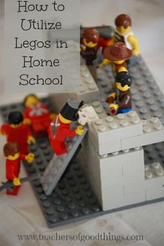How to Utilize Legos in Home School - List of links to ideas of how to use legos for learning. Has a little of everything, including Bible and Geography!