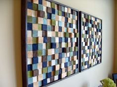 Wood wall art -squares