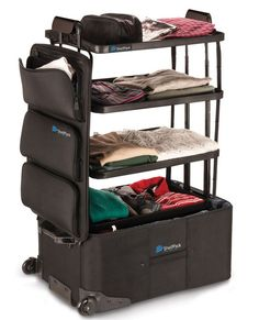 Shelfpack: Genius suitcase doubles up as shelves so you never have to unpack on hols again