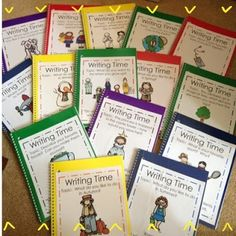 Whole Class Writing Journals - Each journal has a different topic with a copy of the class list on the inside of the front cover.  The students can also read the journals at a different time. Would also be a good 'I'm finished early' activity.