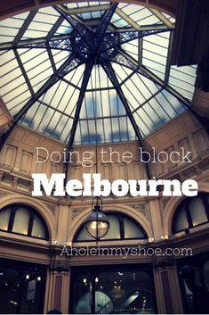 We enjoyed doing the block, as we ate, shopped and stayed on Collins Street, Melbourne's epicentre of all things fashionable.