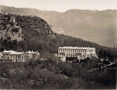 Palace of GD Konstantine in Crimea . Famous pavilion on cliff above.