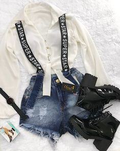 Teen Fashion Outfits, Mode Outfits, Outfits For Teens, Summer Outfits, Girl Outfits, Womens Fashion, Cute Casual Outfits, Stylish Outfits, Mode Hip Hop