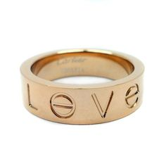 Cartier Love Ring in rose gold. Absolutely love it! Will be dreaming about this!!