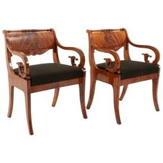 Neoclassical Armchairs, Baltic / Russia, 1810-1820 | From a unique collection of antique and modern armchairs at https://www.1stdibs.com/furniture/seating/armchairs/