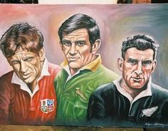 Great Locks Willie John McBride, Frik du Preez and Colin Meads