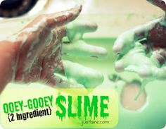 it's just Laine: Ooey-Gooey Slime for Kids {just two ingredients!}