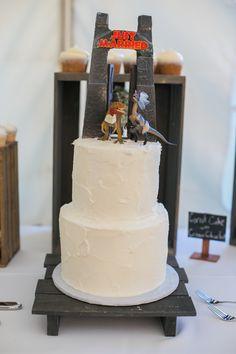 Jurassic Park Themed Wedding Cake